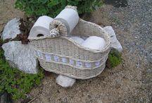 papírové pletení / pletení košíků a různých dekorací
