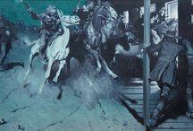 Harold von Schmidt / Masters of illustration... Harold von Scmidt.