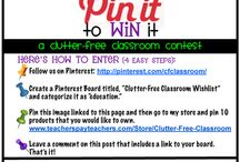 Clutter-Free Classroom Wishlist / Links to products from Clutter Free Classroom. I have several items from this seller, they look great in the classroom and are well thought out!