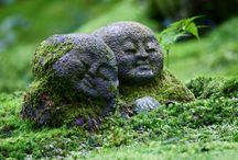 Sten i trädgården