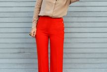how to wear bold colors pants