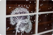 cristales con tiza