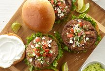 National Hamburger Month / Did you know that in 1836 New York's Delmonico's Restaurant issued the first printed American menu and lists hamburger steak as one of the priciest items for 10 cents? In honor of our history and National Hamburger Month we are collecting a few must try burger recipes. Enjoy!