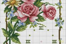 crossstitch clock