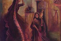 Bağdat Irak kadınları tabloları