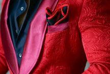 Chaqueta de color rojo