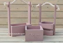 wood floral box