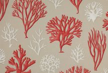 Patterns for Swedish seaside house / Gray and red color scheme - traditional modern decor