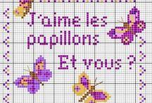 Papillon Point de croix