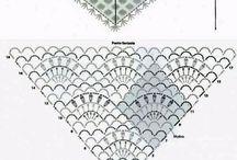 háčkované šátky