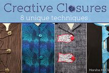 Creative Closures / Finishing touches to your Sewing projects.
