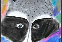 Kreide-Pastellmalerei