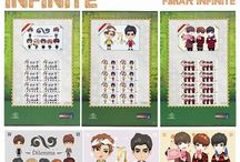 i-STAMP #INFINITE / i-STAMP INFINITE from Pos Indonesia PRISMA - Filatelies/Collector