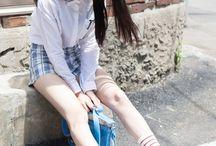 Korean and Japanese Girl fashion
