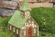 """Fairy Gardens / A fairy garden is a miniature garden complete with live diminutive plants, and miniaturized homes and accessories designed to attract magical fairies or """"wee folk"""". These fairies and magical creatures would love a place in your garden! Tap into your imagination and draw from that child within. Create your own enchanted world, and entice those elusive fairies to bring their good luck to your home. / by Piper Classics"""