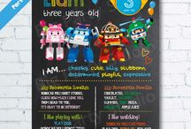 Chalkboard party invitation ideas