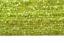 Natural Peridot Gemstone Beads / Get the best natural Peridot gemstone beads from African Mines. Available in clear faceted cut. A bead measures from 3mm to 6mm. These beads are unbleached, real, untreated & beautiful which allure you