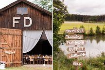springtime country wedding