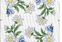 Cross Stitch:  Daisies
