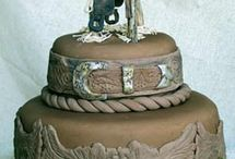 Cowboy Cakes / Of course it has to be western.  Its who we are.