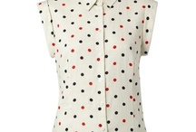 spotty blouse and. ect