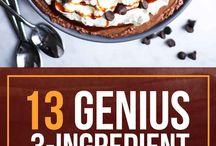 3 ingredient dessert or food