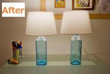 gin bottle lamps