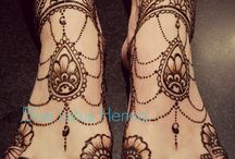 mehendi and tattoo