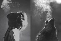 Smoke portrait