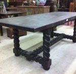 Two inch thick dining room tables solid wood
