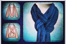 Scarves:  tie, organize