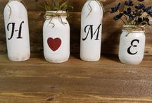 Bottles and jars / DIY, ideas and tutorial to repurposed | up-cycle wine bottles and mason jars.