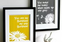 Frames, prints and backgrounds