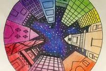 perspektiv och färglära