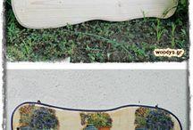 Ξύλινα Αντικείμενα για Ντεκουπάζ / Ξύλινα χειροποίητα αντικείμενα οργάνωσης και διακόσμησης για την εφαρμογή ντεκουπάζ και άλλων τεχνικών ζωγραφικής σε ξύλο.