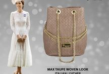 Max woven Italian leather shoulder bag