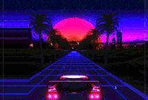 RetroWave / Vaporwave Style