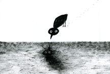 birds. / artworks. dmitry geller. pictures for sale. 21x29. chinese ink. paper. рисунки дмитрия геллера. работы продаются.