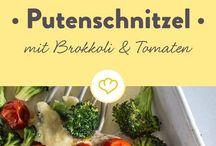 Puten  Schnitzel mit Brokkoli