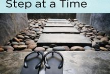 Steps and Stones / I love the cover of my new book, Hepatitis C Treatment One Step at a Time, and now I look at stairs differently. And stones are simply beautiful too.  / by Lucinda Porter RN