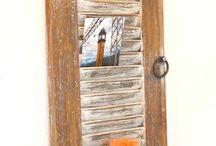PORTA RECADOS E FOTOS / Quadro porta recados , porta fotos com prateleira,