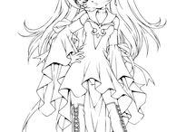 Printable Anime - coloring