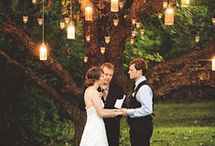 outdoor wedding lighting / by Floral Occasions by Kelli