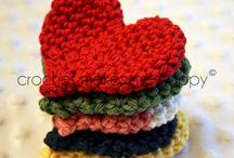 3d heart croche
