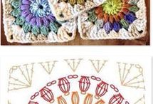 almohadones y mantas crochet