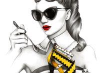 Helene Cayre Illustrations / #helenecayreillustrations #fashionillustrations