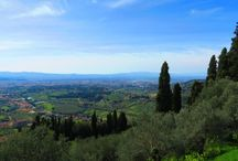 Fiesole e le colline sopra Firenze / http://blog.zingarate.com/mondovagando/fiesole/