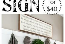 DIY Signs / How to make Wall Art with hand-lettering
