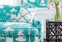 Bringing Summer Inside / As summer weather comes to an end, why not bring vibrant colors into our homes? Thibaut, Thom Filicia for Kravet, and Alessandra Banca for F. Schumacher have each done this in their new collections of fabric and wallcoverings.