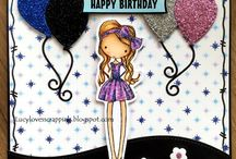 ALL DRESSED UP IMAGES - Cute, girly handmade cards